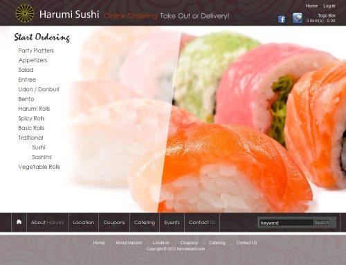 Harumi Sushi 온라인 주문